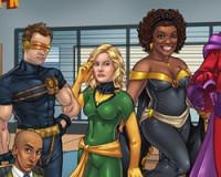 Cast of Community as X-Men