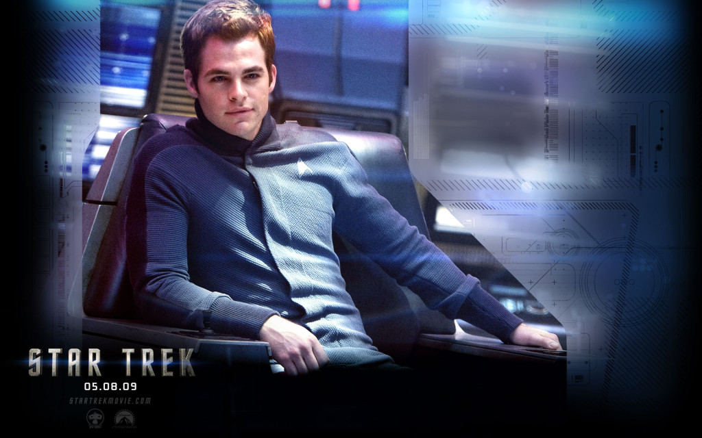 Chris Pine as Captain Kirk in Star Trek