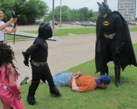 Gravely Ill 7 Year Old Boy Gets His Wish… Becomes Batman For a Day