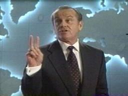 Jack Nicholson as President in Mars Attacks!