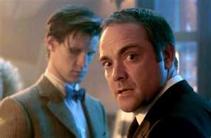 Mark Sheppard and Matt Smith in Doctor Who