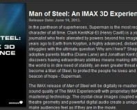 Man Of Steel To Be Presented In IMAX 3D!