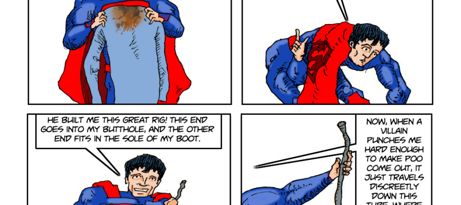 The reason why the New 52 Superman doesn't wear his underwear ou