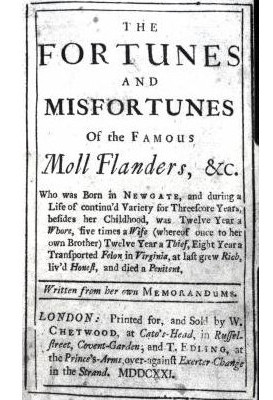 Moll Flanders title page
