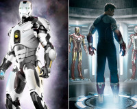 Iron Man 's New Armor is Black, White, and Funky All Over