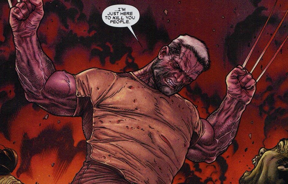 Geriatric Logan is a killing machine