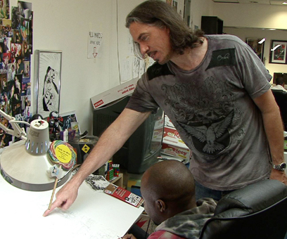 Marc Silvestri at Work
