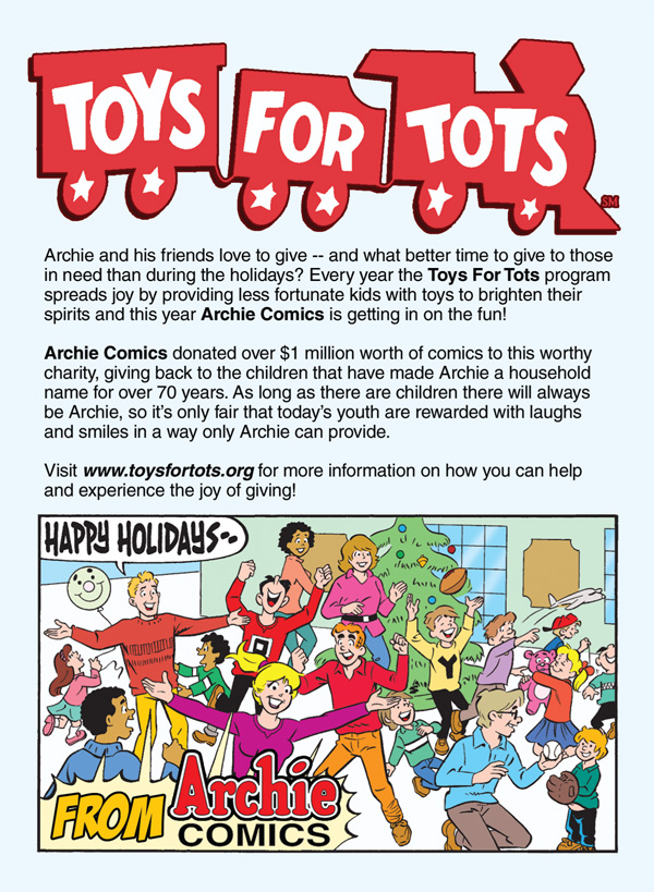 Toys For Tots Application : Archie comics gives over million worth of comic