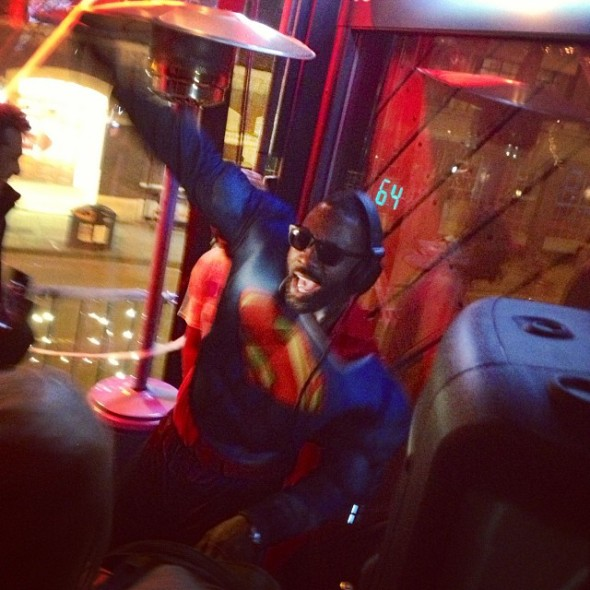 Elba recently wore a Superman costume while DJing a party