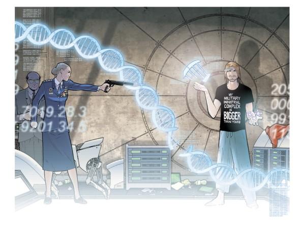 Think Tank Graphic Novel Art