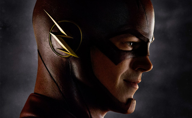 First Look At Grant Gustin's FLASH Costume Revealed