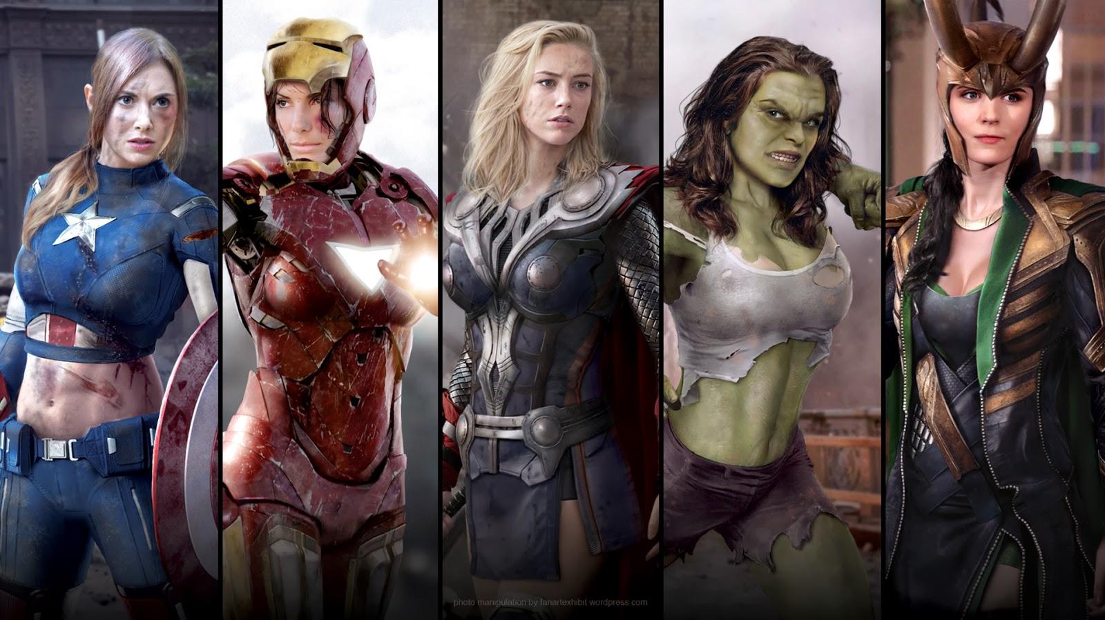 female avengers diverse