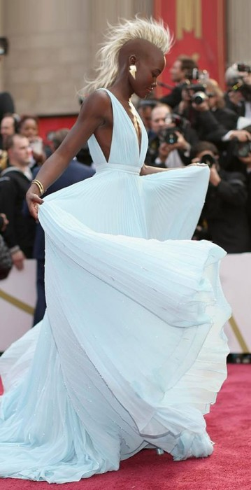 Lupita looks much more Storm-esque than Halle ever did.