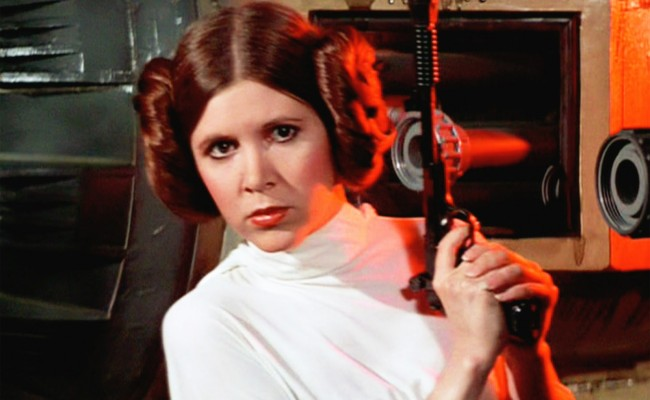 "Carrie Fisher Promises To Be ""Less British"" For STAR WARS EPISODE VII"