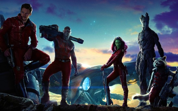 Guardians of the Galaxy Strik a Pose Banner
