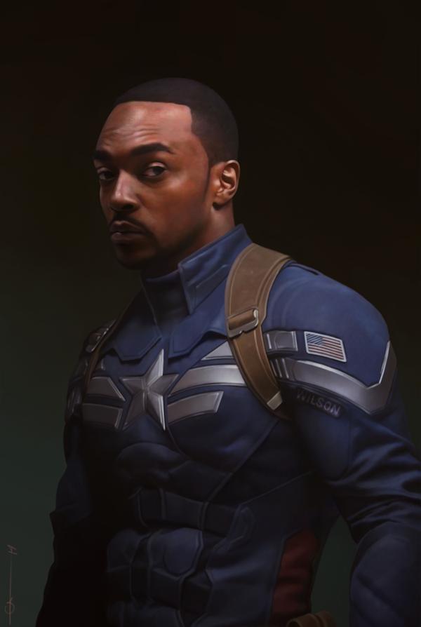 black captain america falcon