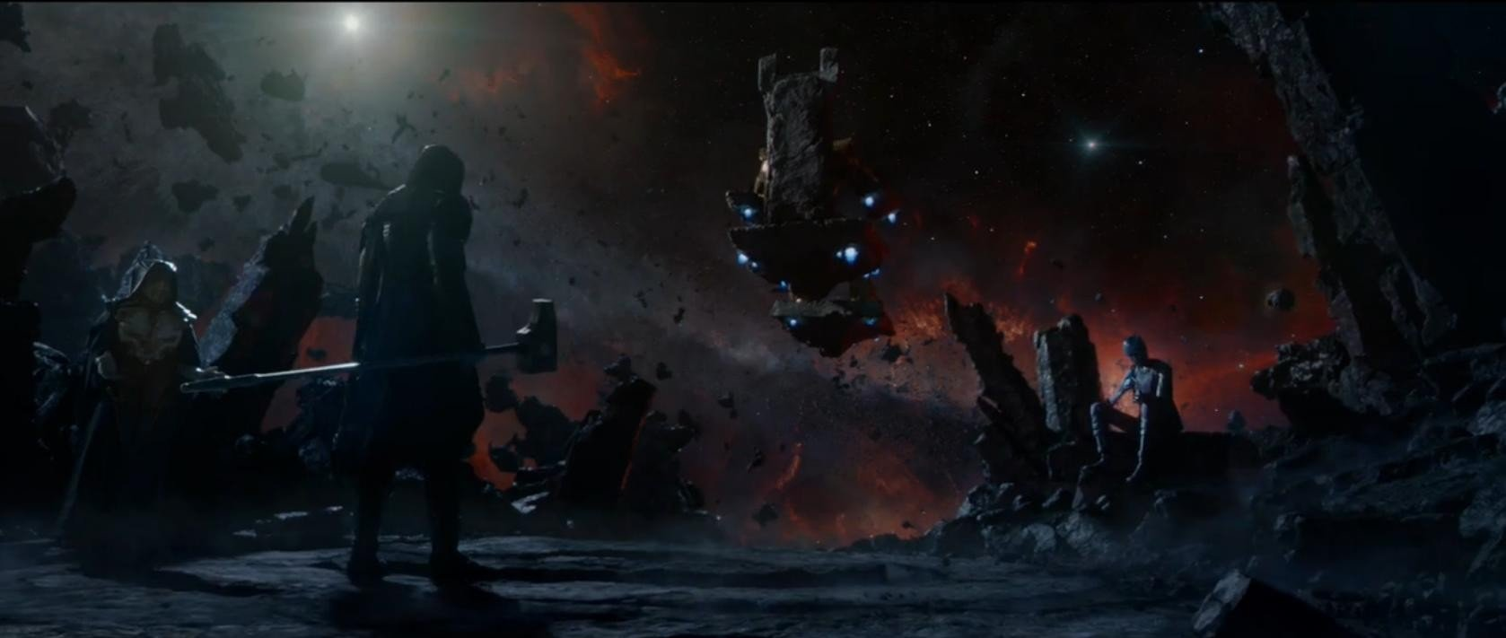 thanos throne guardians of the galaxy