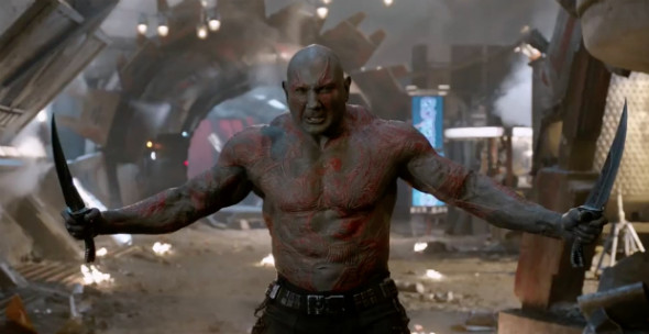 Bautista as Drax the Destroyer.