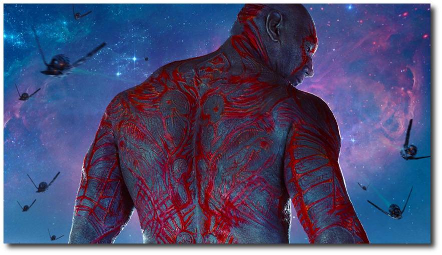 GOTG Drax Poster Widescreen