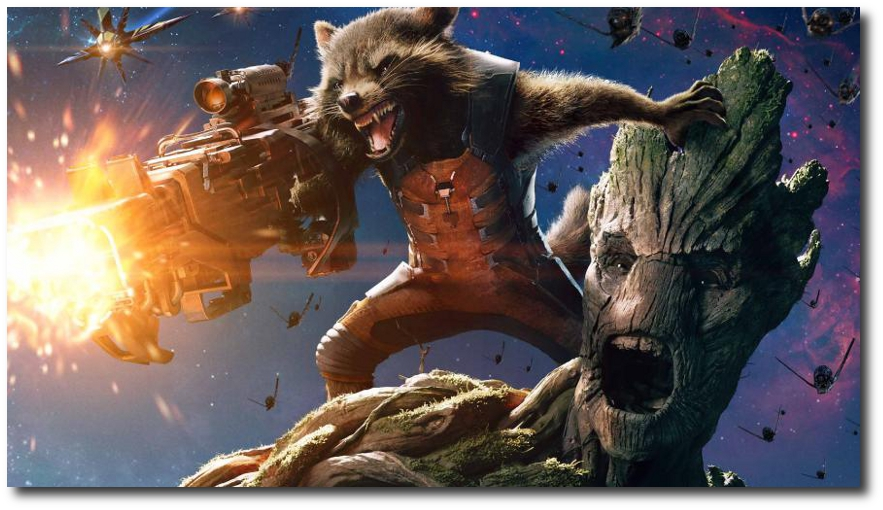 GOTG Rocket and Groot Poster Widescreen