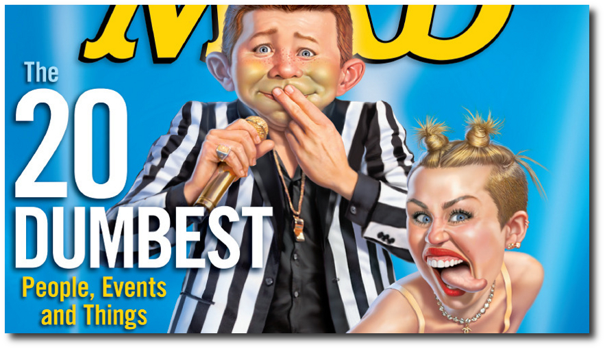 Mad Magazine Dumb People in 2013 Widescreen