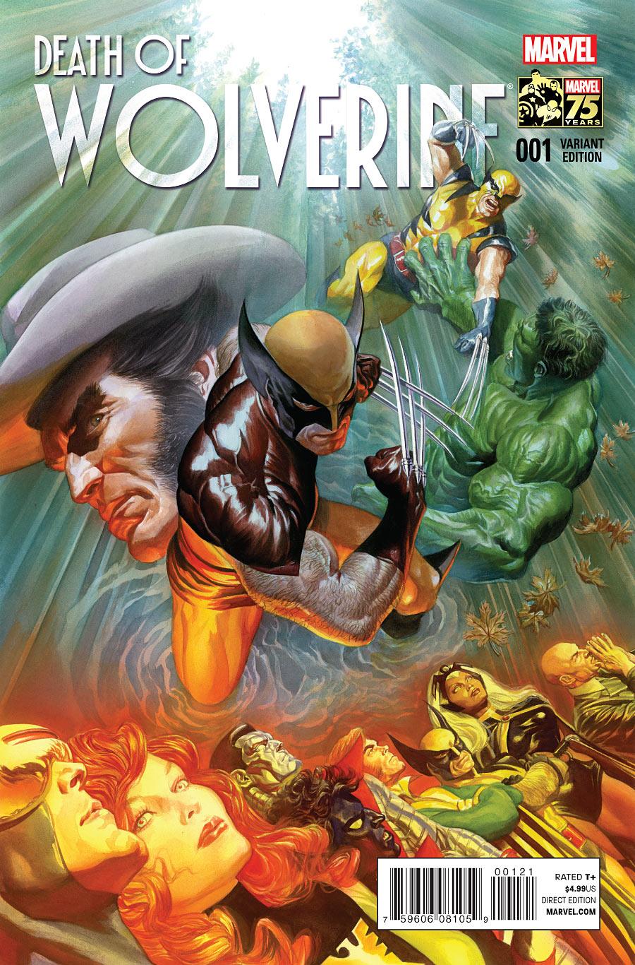 Death of Wolverine #1 Alex Ross