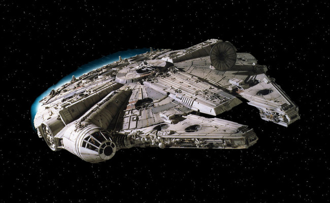 STAR WARS EPISODE VII's Millenium Falcon And X-Wings Spotted From High Above