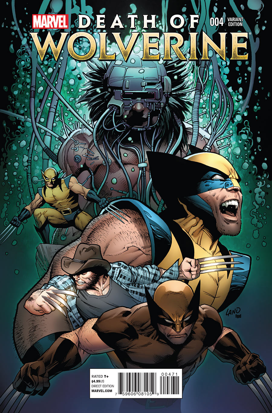 Death of Wolverine #4 variant