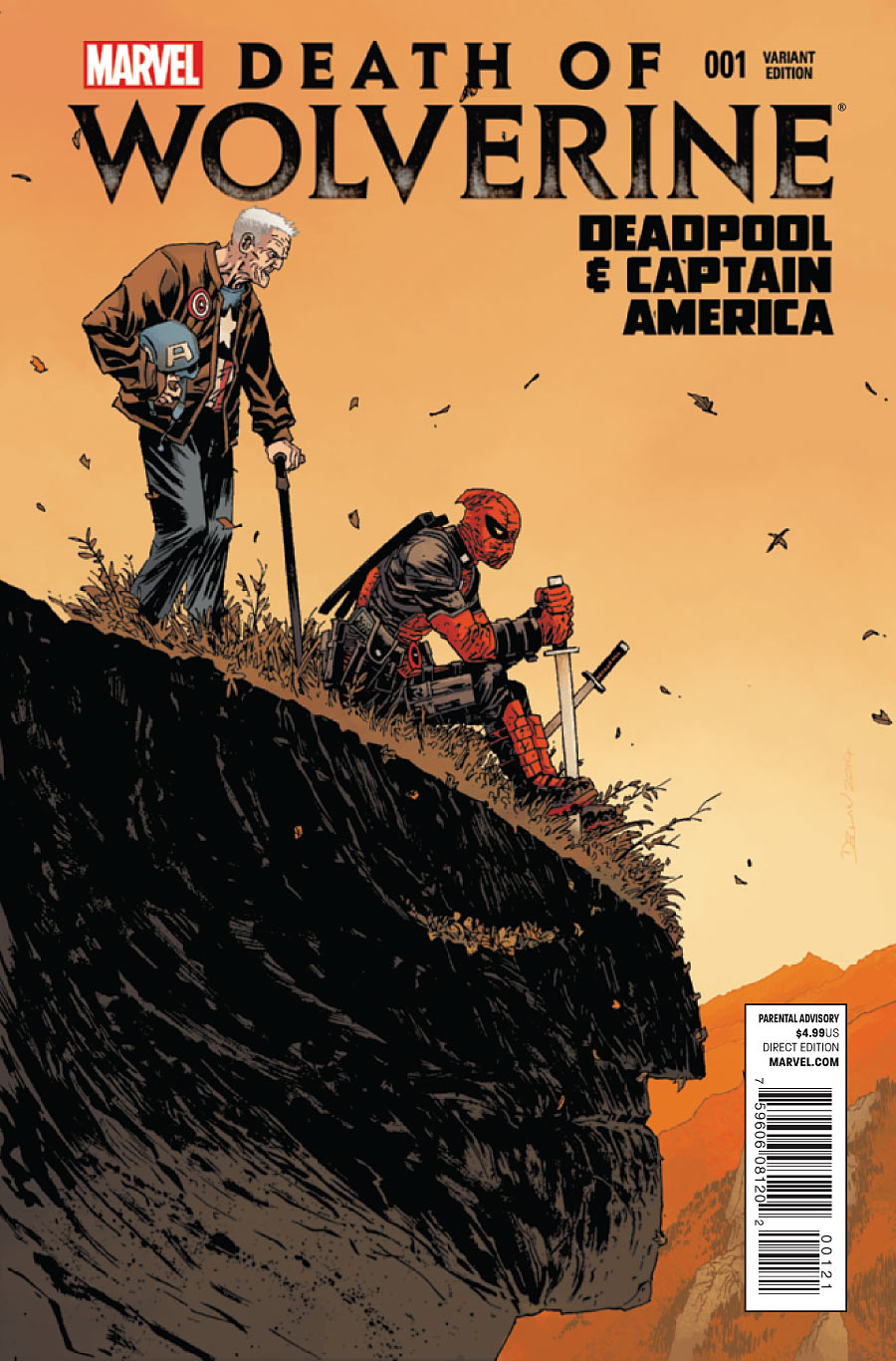 Death of Wolverine Deadpool & Captain America #1 variant 2