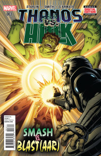 Thanos vs Hulk 3 Starlin Cover