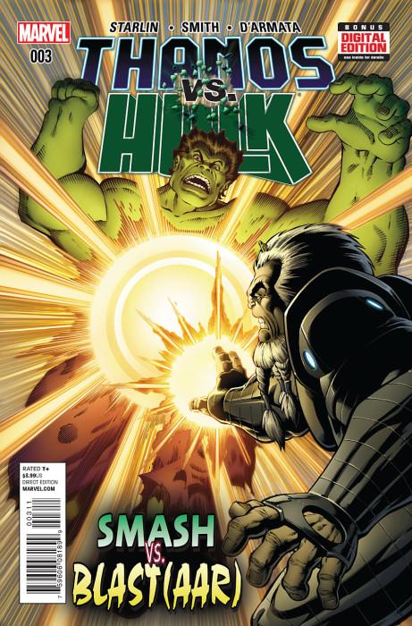 Thanos vs Hulk 3 Starlin Cover