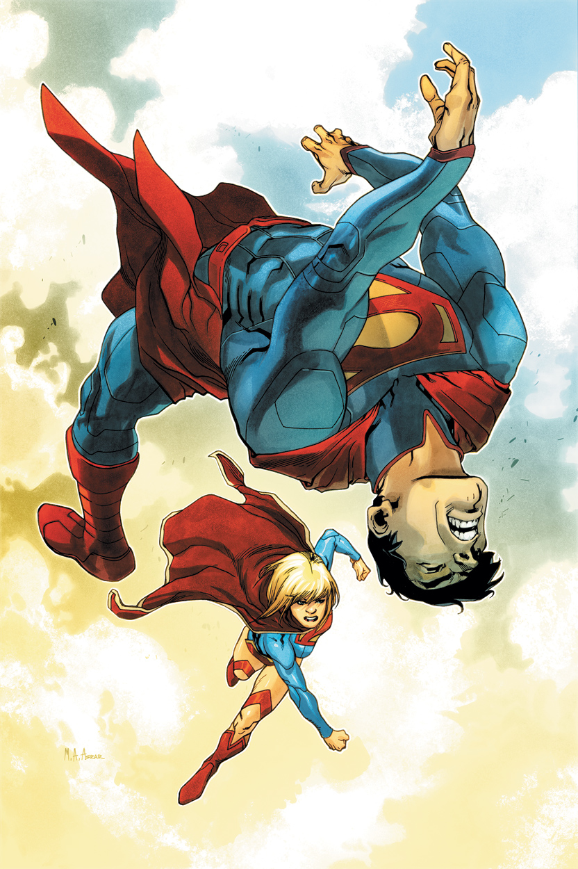 Supergirl punches Superman