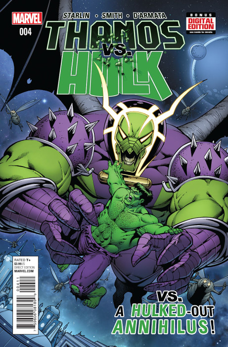 Thanos vs Hulk 4 Starlin Cover