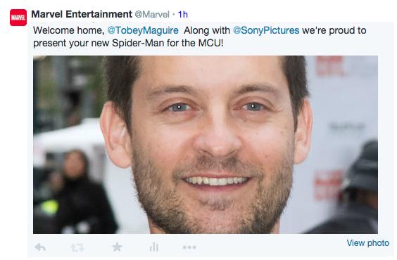 tobey maguire mcu spider-man