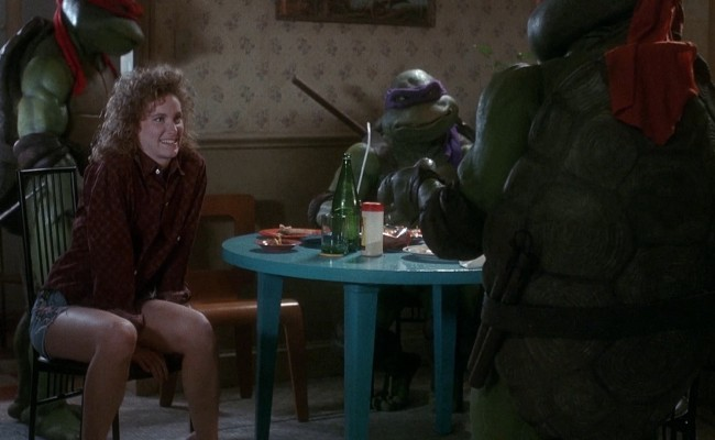 Will Judith Hoag teach Michelangelo some manners?