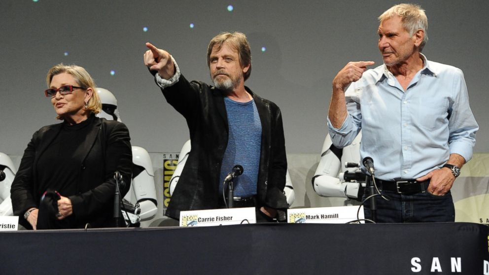 mark hamill carrie fisher harrison ford star wars comic-con 2015