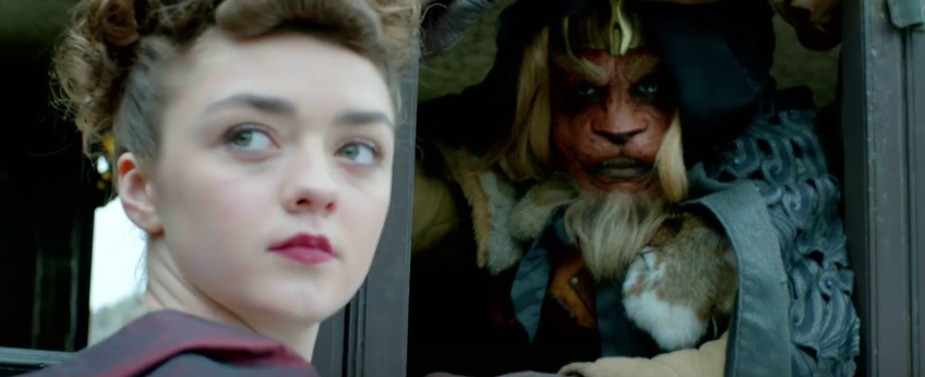 doctor who series 9 maisie williams chewbacca