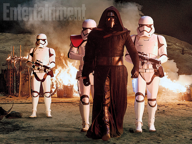 star wars the force awakens kylo ren stormtroopers