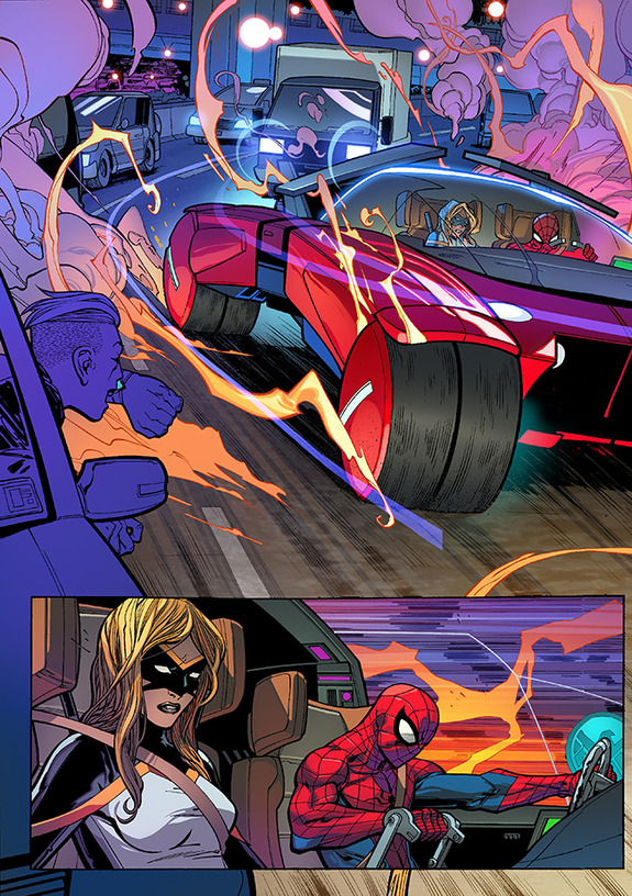 all-new spider-man issue 1 spider-mobile