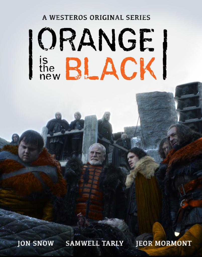 game of thrones orange is the new black night's watch