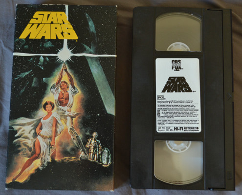 a new hope vhs star wars story