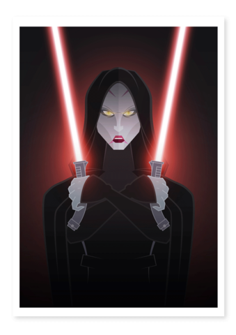 asajj ventress art thief print