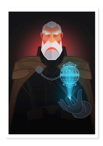 count dooku art thief print