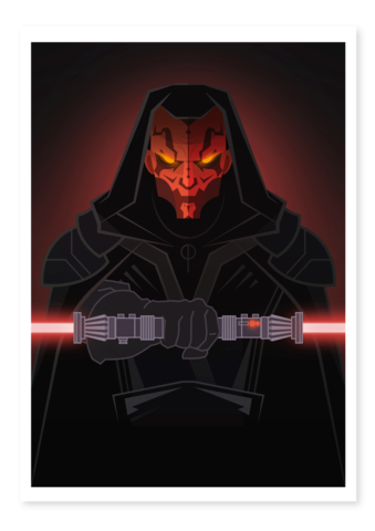 darth maul art thief print