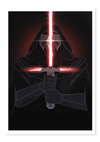 kylo ren art thief print