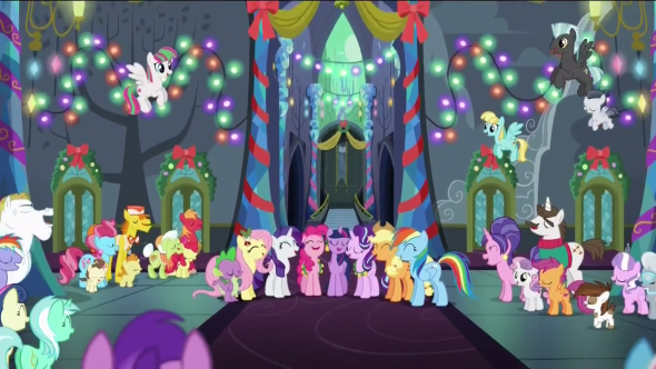 Ponies_sing_together_in_the_Castle_of_Friendship_S6E8