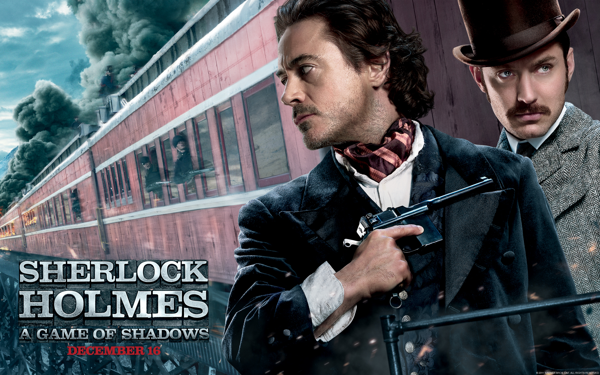 Sherlock Holmes A Game Of Shadows Gets New Poster And Wallpaper