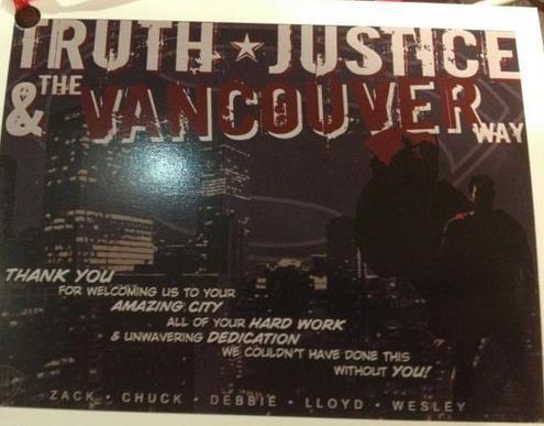 Superman Thanks Vancouver!  Canadians Rejoice!