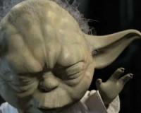 Yoda Fights Darth Maul for Some Brisk