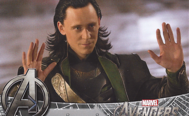 New Look At Loki On Avengers Trading Cards